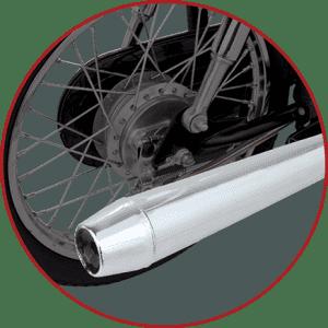 Sporty Looking Chrome Muffler Exhaust