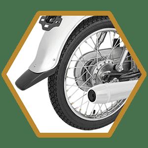 Thicker Spokes & Durable Rear Wheel