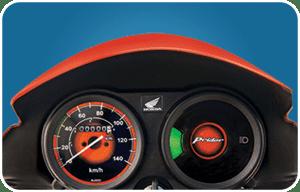 Brightly Lit Speedometer