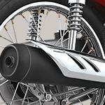 Modern  Black Painted Muffler Exhaust with Breathtaking Sound